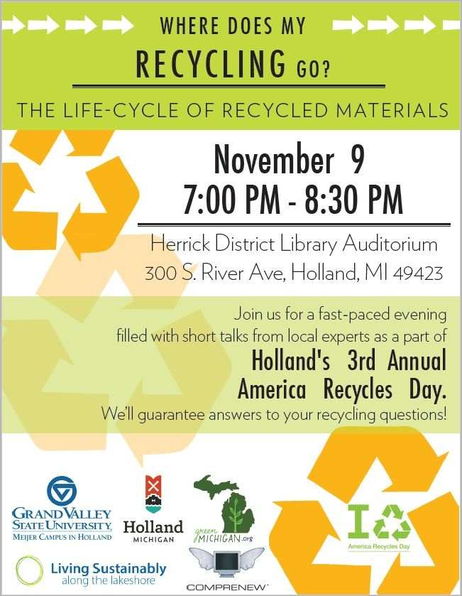 America Recycles Day poster